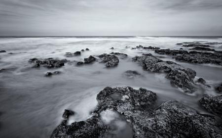 Заставки океан, прибой, волны, камни