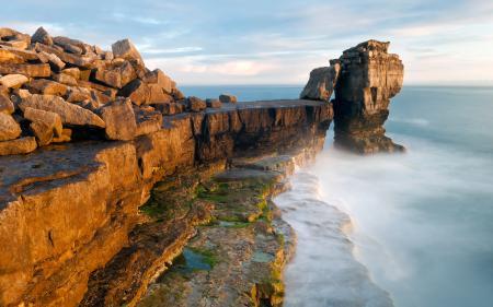Заставки Англия, Дорсет, скалы, камни