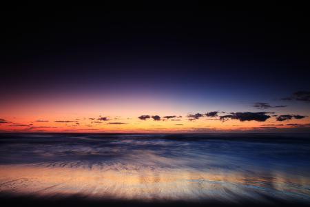 Картинки берег, океан, волны, небо