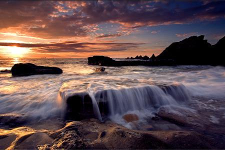 Фотографии море, солнце, камни, скалы