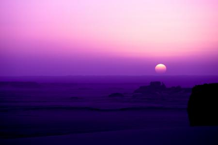 Фото розовое, утро, пустыня