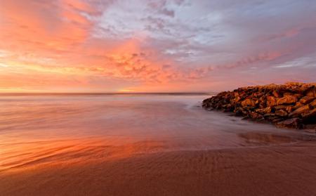 Фотографии рассвет, океан, Аргентина, прибой