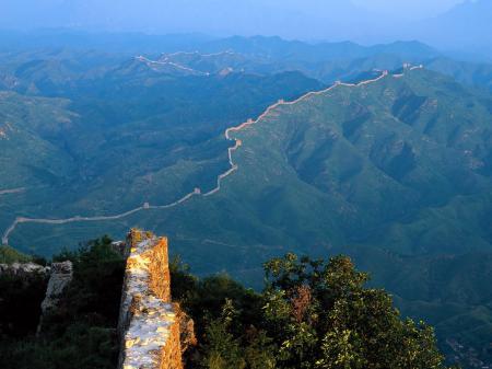 Заставки Китай, стена, горы