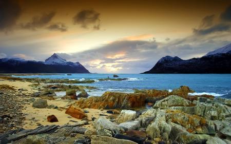 Заставки море, скалы, небо