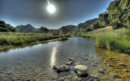 Обои река, небо, природа, пейзаж