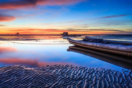 Картинки море, песок, лодка, баркас