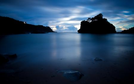 Фото озеро, ночь, природа, пейзаж