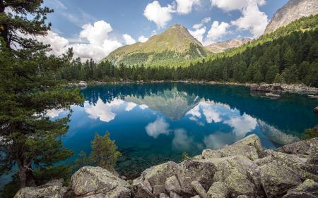 Картинки озеро, горы, лето, природа