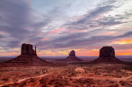 Фото долина монументов, сша, пустыня, небо