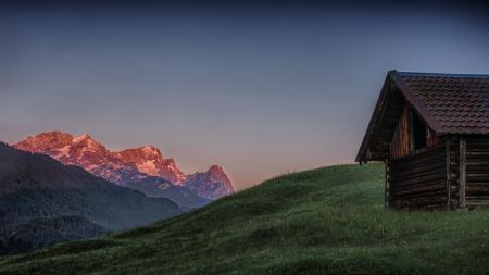 Обои дом, горы, природа, пейзаж