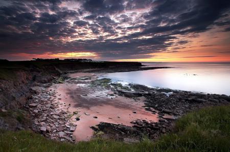 Картинки закат, море, берег, природа