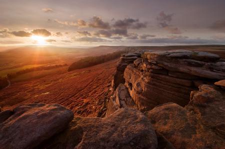 Фотографии англия, долина, камни, свет