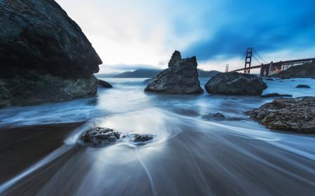Картинки камни, небо, мост, пейзаж