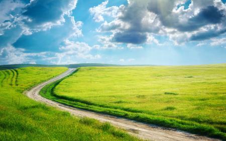 Заставки дорога, трава, поле, зелень