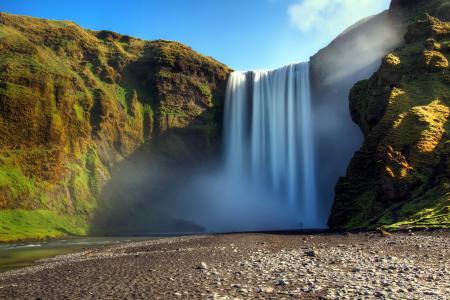 Фото река, водопад, природа