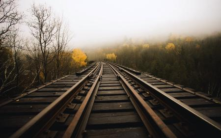 Фотографии железная дорога, пейзаж, фон