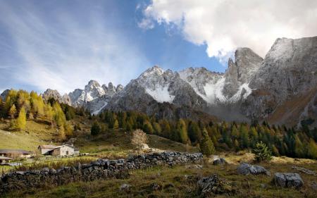 Обои природа, горы, пейзаж, деревья