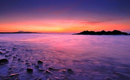 Картинки пейзаж, природа, закат, горизонт