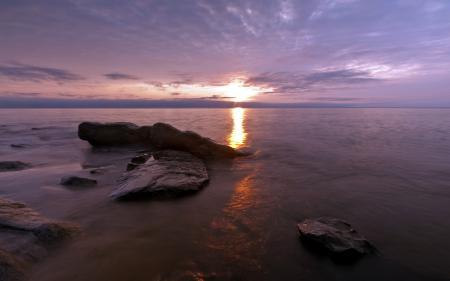 Картинки ночь, море, скалы, пейзаж