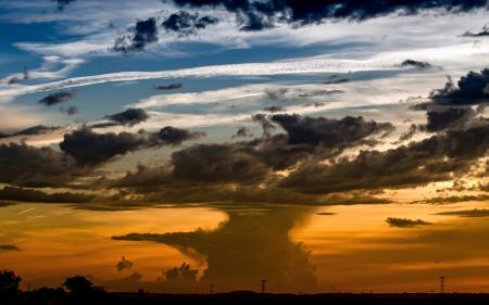 Фото закат, небо, пейзаж