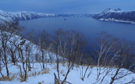 Заставки Mashuko, озеро, горы, деревья