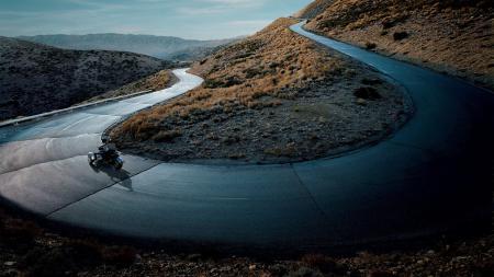 Фотографии горы, извилистая, дорога, повороты