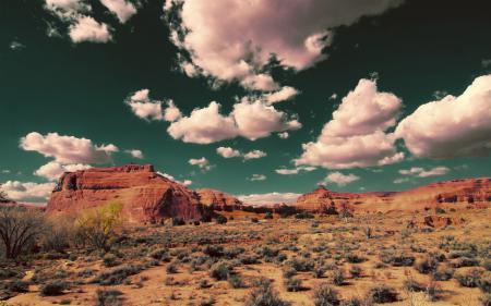 Заставки облака, небо, скалы, пустыня