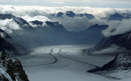 Фотографии горы, облака, свет, туман