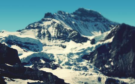 Обои небо, горы, скалы, снег