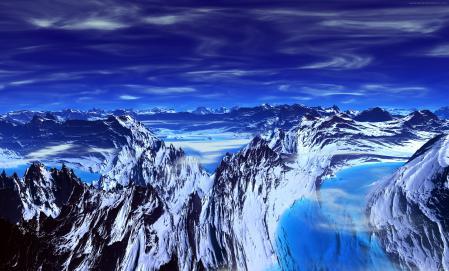 Фото горы, скалы, небо, обои