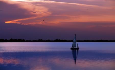 Фото пейзаж, вечер, вода
