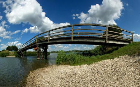 Фотографии мост, берег, небо