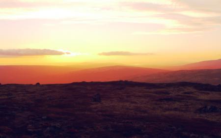 Фотографии рассвет, горы, небо, солнце