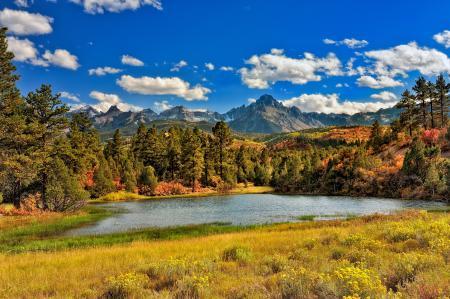Фото лес, горы, озеро