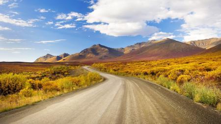 Фотографии дорога, вдаль, повороты, горы
