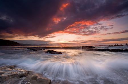 Картинки небо, облака, море, камни