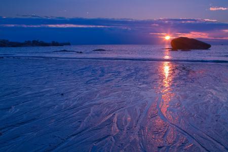 Обои море, утро, закат