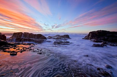 Картинки море, облака, скалы, небо