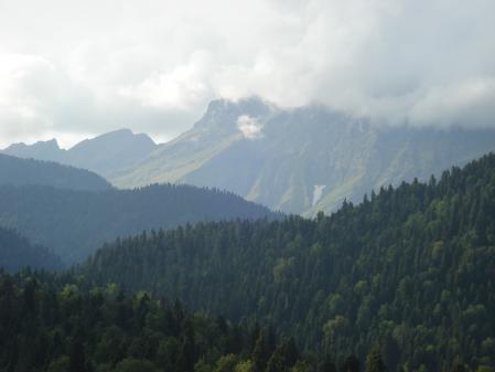 Картинки горы, облака, природа