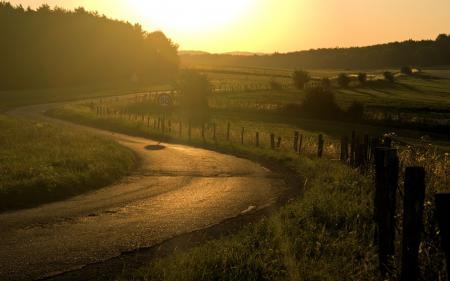 Картинки дорога, путь, лучи, солнце