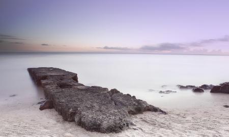 Обои море, пляж, утро, нежное