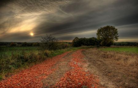 Фото серый, небо, дорога