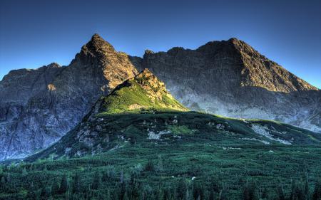 Фото polish tatra mountains, koscielec at dusk, горы