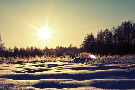Заставки зима, сугробы, снег, деревья