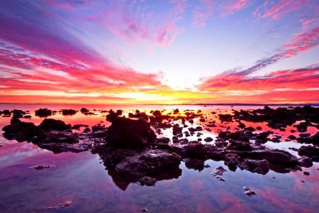 Фотографии небо, закат, море, камни