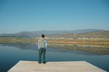 Заставки Озеро, горы, пейзажи