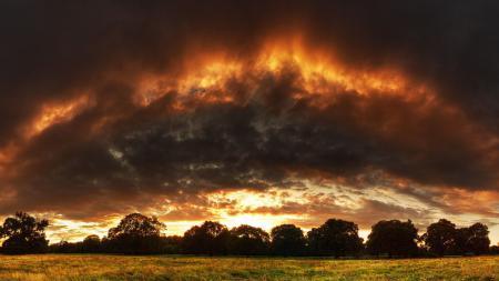Картинки закат, тучи, облака, лучи