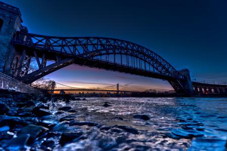 Обои мост, bridge, вода, камни