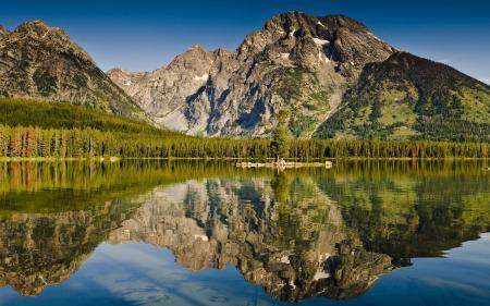 Картинки горы, озеро, лес, отражение