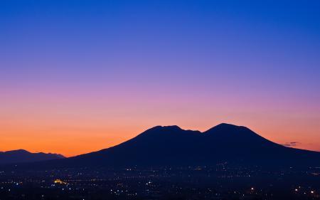 Фото горы, город, огни